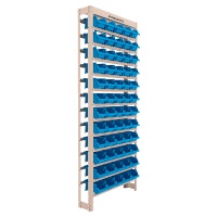 Imagem - Estante Gaveteiro com 60 Gavetas Nº 3 Cor Azul (58380) Bege Liso Presto - 9414