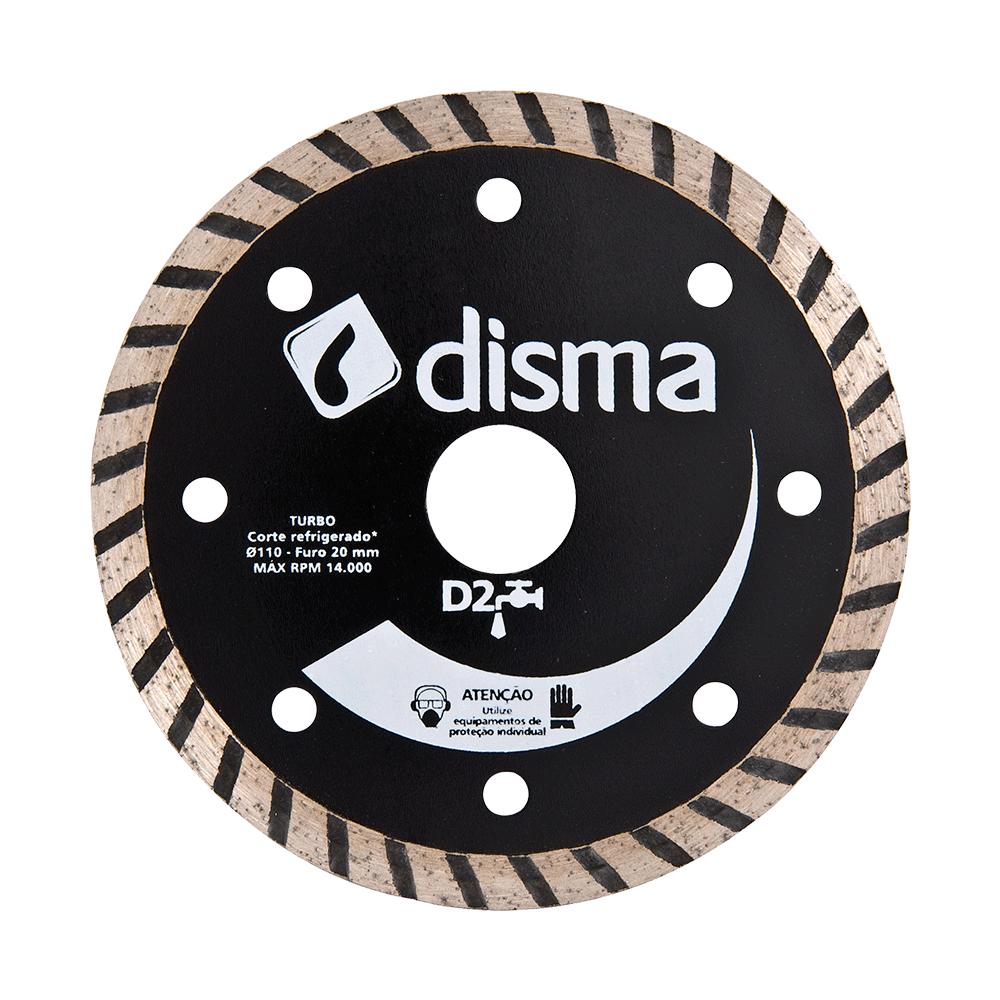 Imagem - Disco de Corte Diamantado 105mm Furo 20mm D2 Turbo Disma - 3149