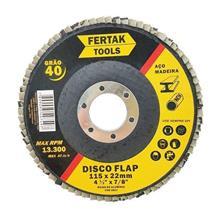 Disco de Lixa Flap 4.1/2 Pol. 115mm Desbaste Gr80 Fertak