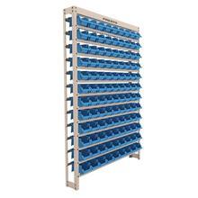 Imagem - Estante Gaveteiro com 108 Gavetas Nº 3 Cor Azul  Bege Liso Presto - 9415