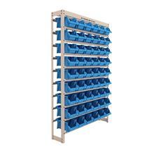 Imagem - Estante Gaveteiro com 54 Gavetas Nº 5 Cor Azul (65988) Bege Liso Presto - 9416