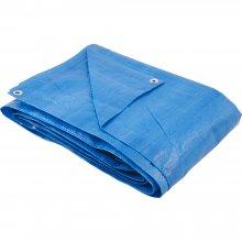 Imagem - Lona Azul Plastica Impermeável 4 x 5m 150 Micras - Festa / Telhado / Multi Uso   - 4618