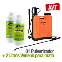 Pulverizador 20 Litros Disma + 2 Litros de Glifosato Adjuvante Citromax