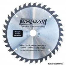 Imagem - Lâmina de Serra Circular 4.3/8 Pol. 24d x 110mm x 20mm - Thompson - 5938