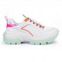Imagem - Tênis Feminino Tanara Dad Sneaker Colorful Branco cód: T4209-504-6