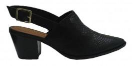 Imagem - Sapato Feminino Scarpin Channel Bottero Couro Bico Fino Preto cód: 305602-313-35