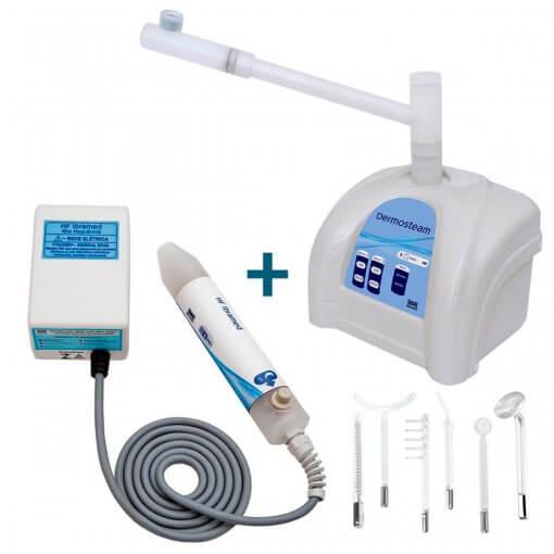 Kit Dermosteam Vapor De Ozônio + HF Alta Frequência + Eletrodos Ibramed