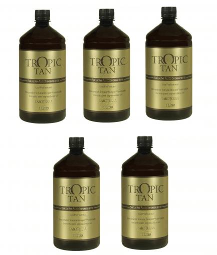 Kit Solução Autobronzeante Tropic Tan - 5 unidades (1 Litro cada)