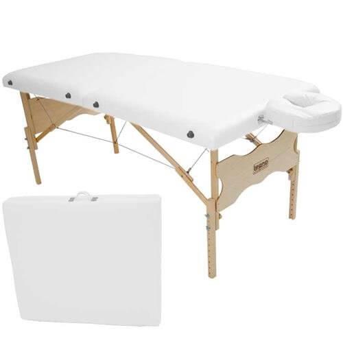 Maca De Massagem Portátil Com Altura Regulável E Orifício Para Fisioterapia E Estética Antares - Legno