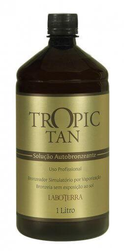 Solução Autobronzeante Tropic Tan - 1 Litro  - Uso Profissional em Aparelhos de Bronzeamento a Jato
