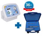 Kit Dermotonus Slim - Vacuoterapia e Endermologia - IBRAMED  + Caneta Peeling de Diamante c/ 5 Ponteiras - Inox