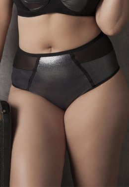 Imagem - Hot pant plus size prata. - 27160268