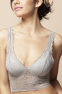 Imagem - Top cropped rendado com bojo cortininha. - 304120421