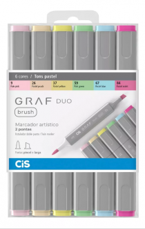 Imagem - MARC CIS GRAF DUO BRUSH EST C/6 PASTEL - 64020