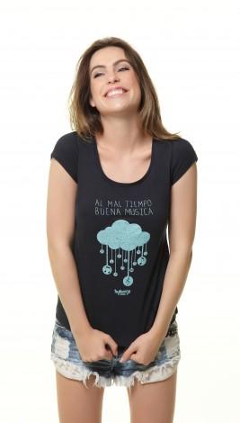 Camiseta Feminina - Al Mal Tiempo Buena Musica