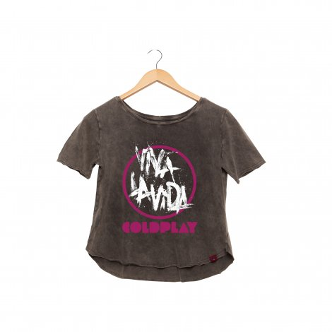 Camiseta Feminina Estonada - Cold Play