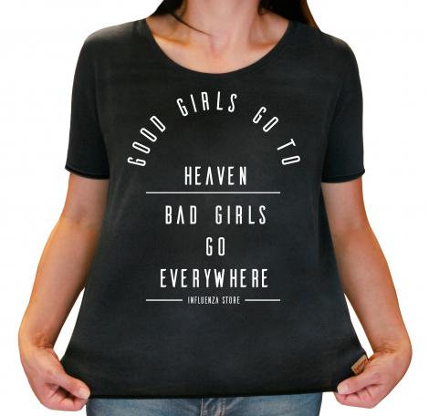 Camiseta Feminina Estonada Good Girls | Bad Girls