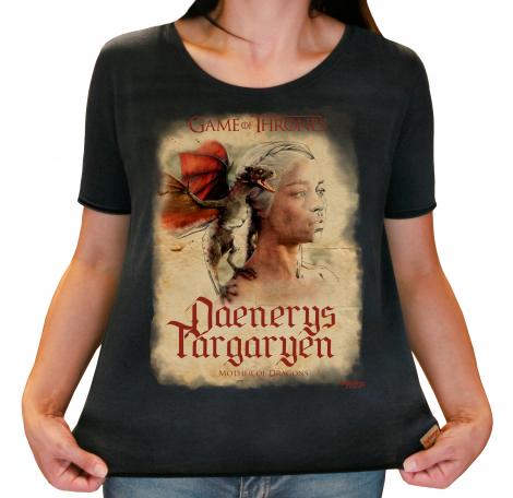 Camiseta Feminina Estonada - GOT - Daenerys