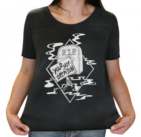 Camiseta Feminina Estonada - R.I.P Your Shit Opinion