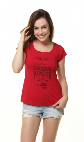 Camiseta Feminina - Friday My Second Favorite F Word