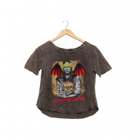 Camiseta Feminina Estonada  - Guns and Roses - Sympathy