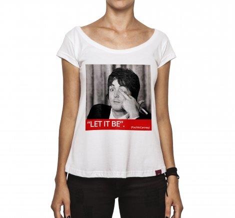 Camiseta Feminina - Paul Let It Be