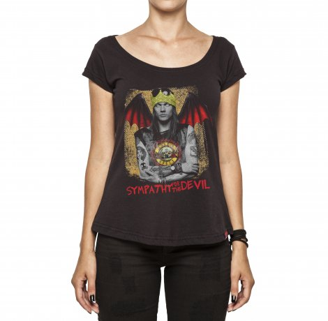 Camiseta Feminina - Sympathy For The Devil - Guns And Roses