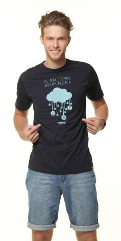 Camiseta Masculina - Al Mal Tiempo Buena Musica