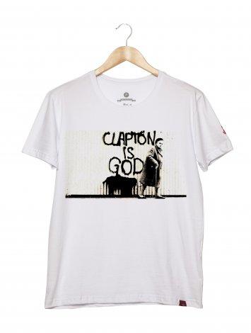 Camiseta Masculina - Clapton Is God