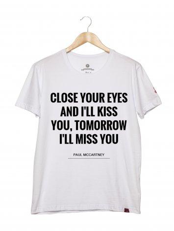 Camiseta Masculina - Close Your Eyes