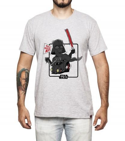 Camiseta Masculina - Darth Vader e seu Fuscão Preto