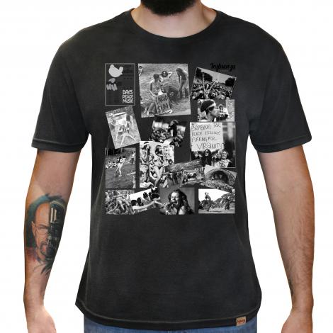 Camiseta Masculina Estonada - Woodstock