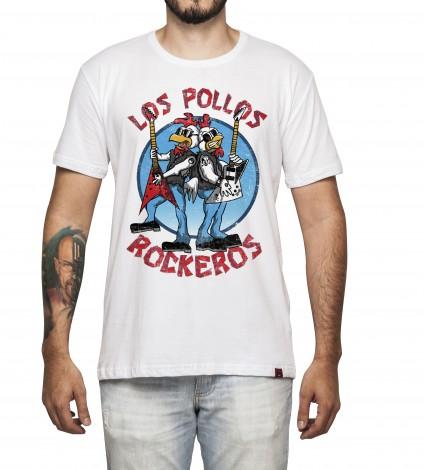 Camiseta Masculina - Los Pollos Rockeros
