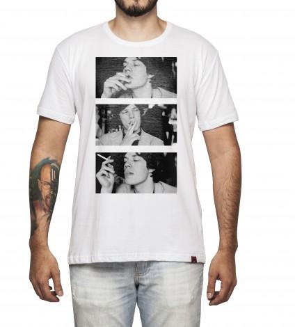 Camiseta Masculina - Mick Jagger Smoking