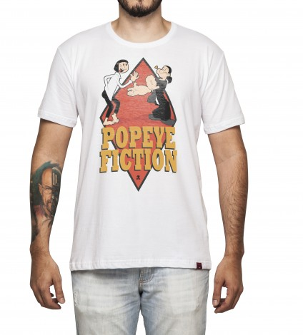Camiseta Masculina - Popeye Fiction