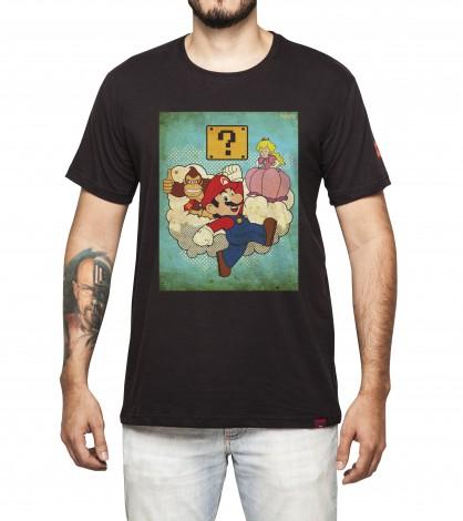 Camiseta Masculina - Super Mario