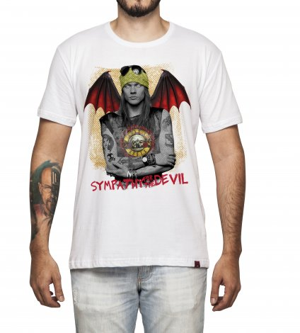 Camiseta Masculina - Sympathy For The Devil - Guns And Roses