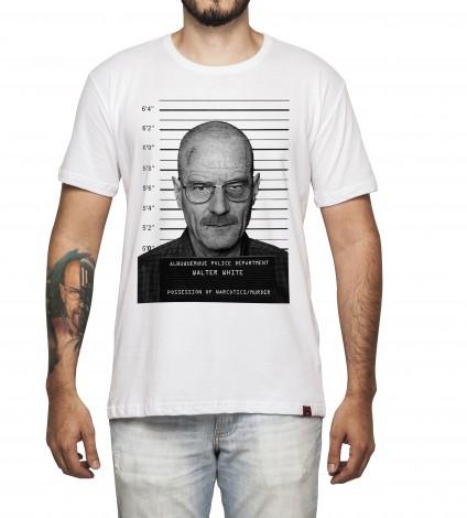 Camiseta Masculina - Walter White - Mugshot