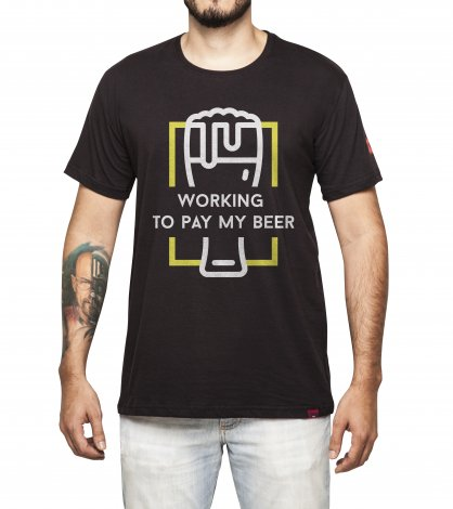 Camiseta Masculina - Working to Pay My Beer