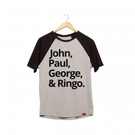 Camiseta Raglan - The Beatles Team