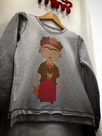 Moletinho Cinza Mescla - Como Si Fueras Magia - Frida Kahlo
