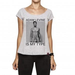 Camiseta Feminina - Adam Levine Is My Type