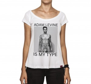 Camiseta Feminina - Adam Levine Is My Type