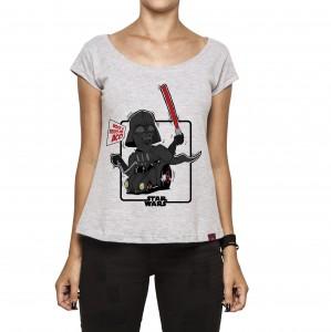 Camiseta Feminina - Darth Vader e seu Fuscão Preto