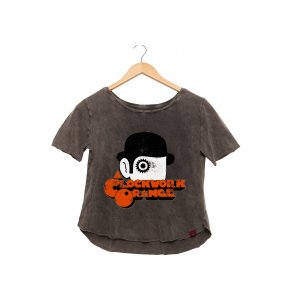 Camiseta Feminina Estonada - Clockwork Orange