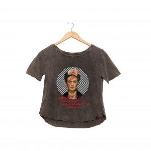 Camiseta Feminina Estonada - Frida Kahlo Enamórate