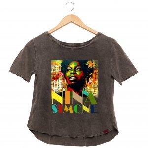 Camiseta Feminina Estonada - Nina Simone - Influenza Store