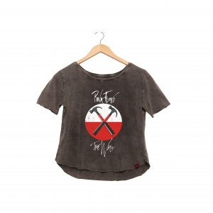 Camiseta Feminina Estonada - Pink Floyd The Wall