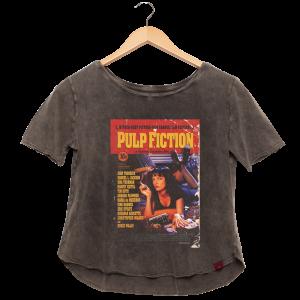 Camiseta Feminina Estonada - Pulp Fiction Poster