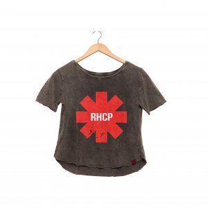 Camiseta Feminina Estonada - RHCP - RED HOT
